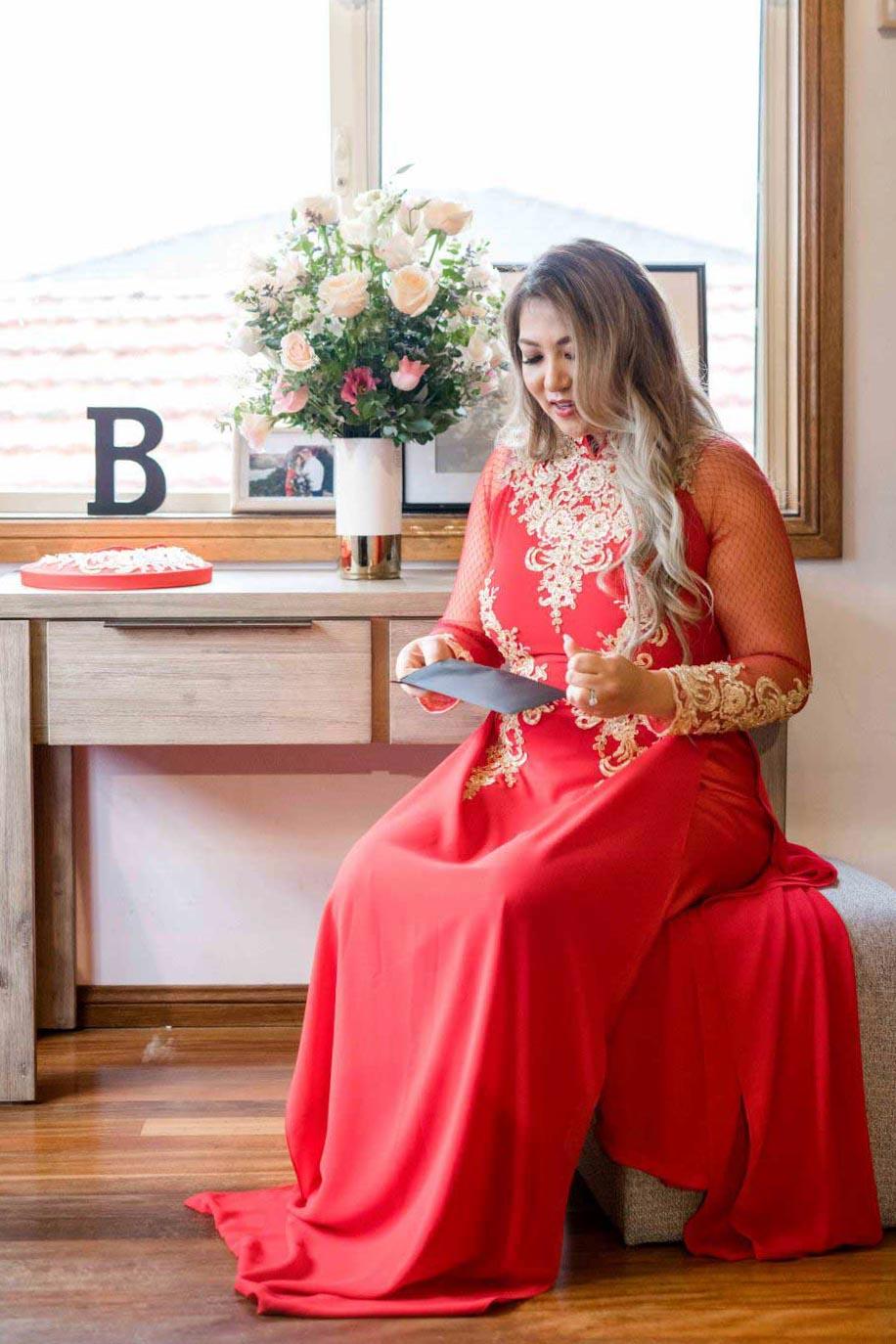 Belinda's Wedding Ao Dai Photo 3